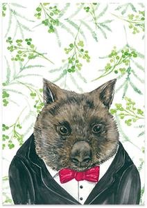 Willy Wombat - A6 Art Card