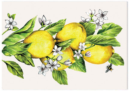 Botanical Fruit Lemon - A6 Art Card