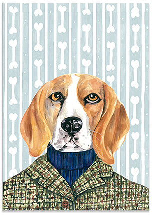 Buddy Beagle - A6 Art Card