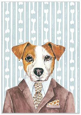 Jack Russell Dog Illustration Helen Ashley Designs