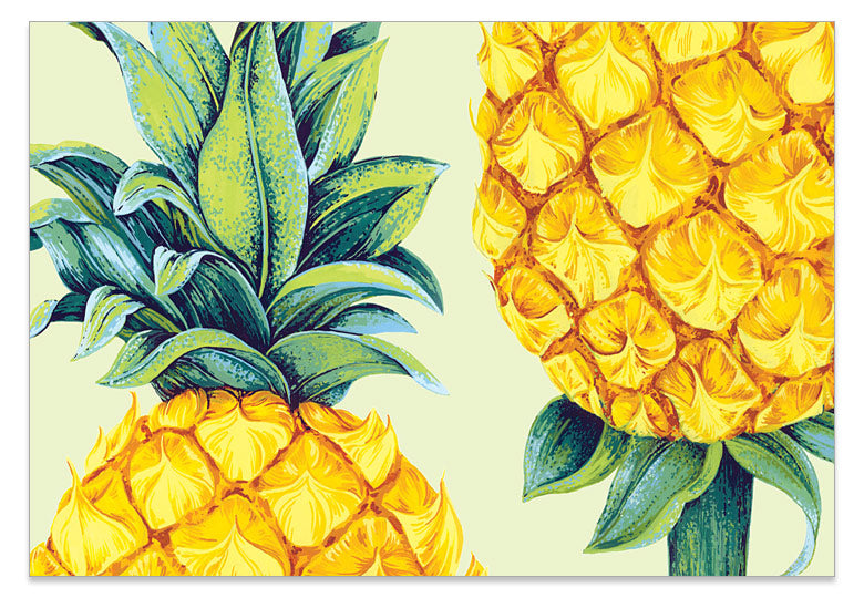 Pineapple Lime - A6 Art Card