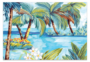 Tropical Palm Tree A6 Art Card