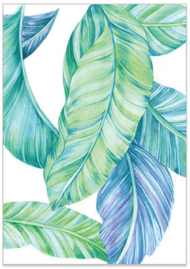 Tropical Leaves - A6 Art Card