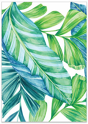 Tropical Leaves 2 - A6 Art Card