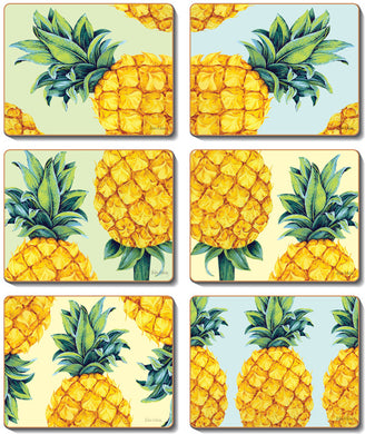 Pineapples Coasters & Placemats