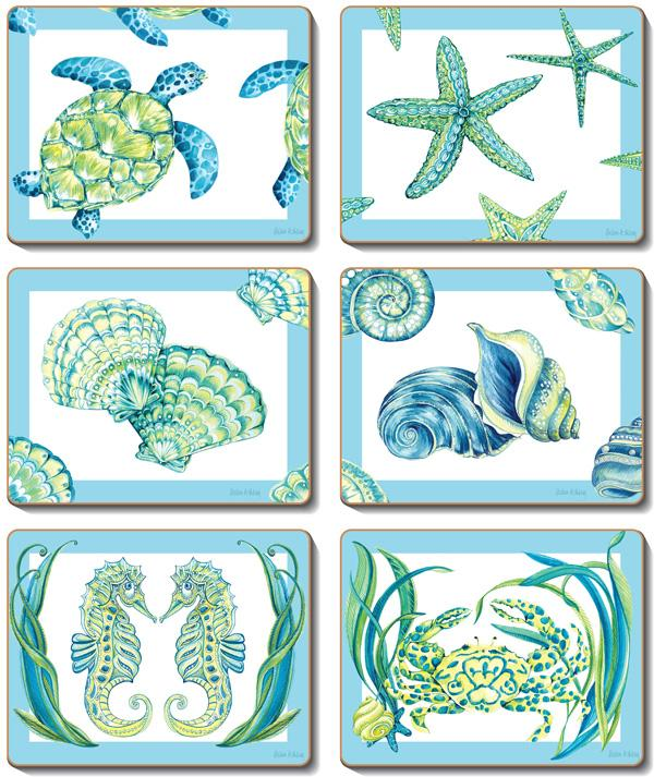 Sea Breeze Coasters & Placemats