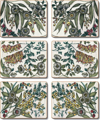 Retro Native Flora Coasters & Placemats