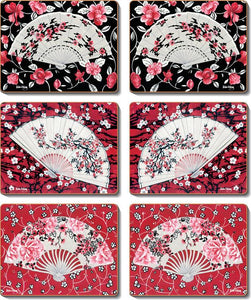 Japanese Fan Style Coasters & Placemats