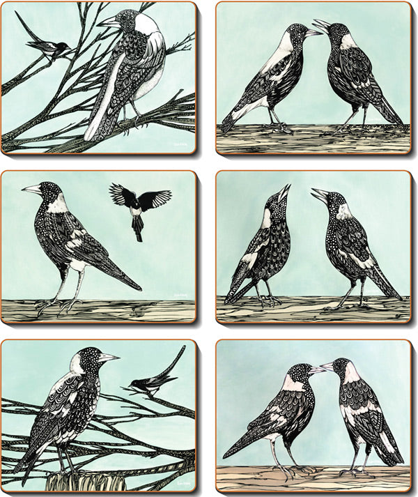 Magpie Song Coasters & Placemats