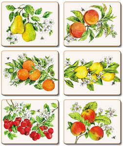 Botanical Fruit Coasters & Placemats