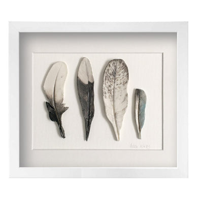 Magpies - Feathers Framed