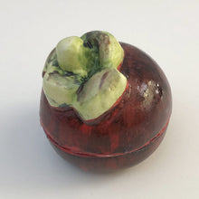 Mangosteen Trinket Box, Tropical Treasure Box, Porcelain Sculpture