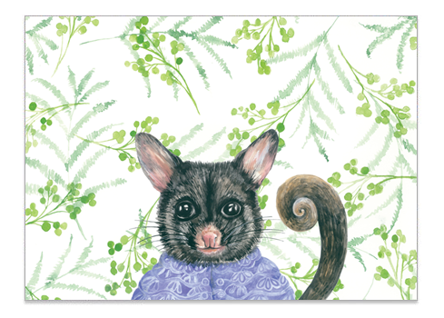 Mrs Possum - Print