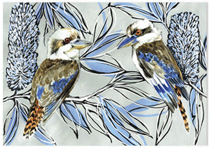 Kookaburra Laugh Banksia - A6 Art Card