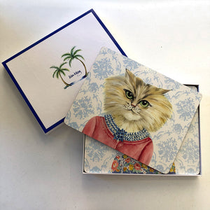 Lady Cat Luncheon Coasters & Placemats