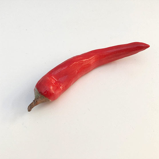 Chilli, chilli spoon rest , chilli chopstick rest or chilli porcelain sculpture