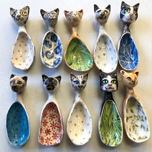 Dog and Cat Ceramic Spoons