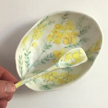 Porcelain Native Floral Bowl Yellow