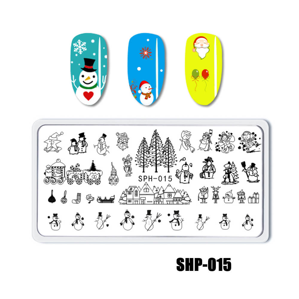 YAYOGE Christmas Stamping Plate Santa Claus ELK Snowman Snowflake - SHP-015 - YAYOGE Official