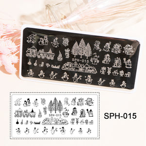 US WAREHOUSE YAYOGE Stamping Plate Cartoon Christmas Santa Claus ELK SnowmanChristmas Tree Nail DIY Plate - YAYOGE Official