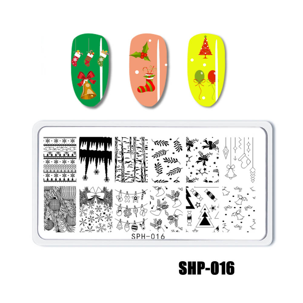 YAYOGE Christmas Stamping Plate Santa Claus ELK Snowman Snowflake - SHP-016 - YAYOGE Official