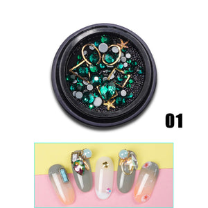 YAYOGE 12Type Nail Glitter Diamond Rhinestone Sequins 3D Crystal Stone Nail Art DIY Jewelry Decoration - YAYOGE Official