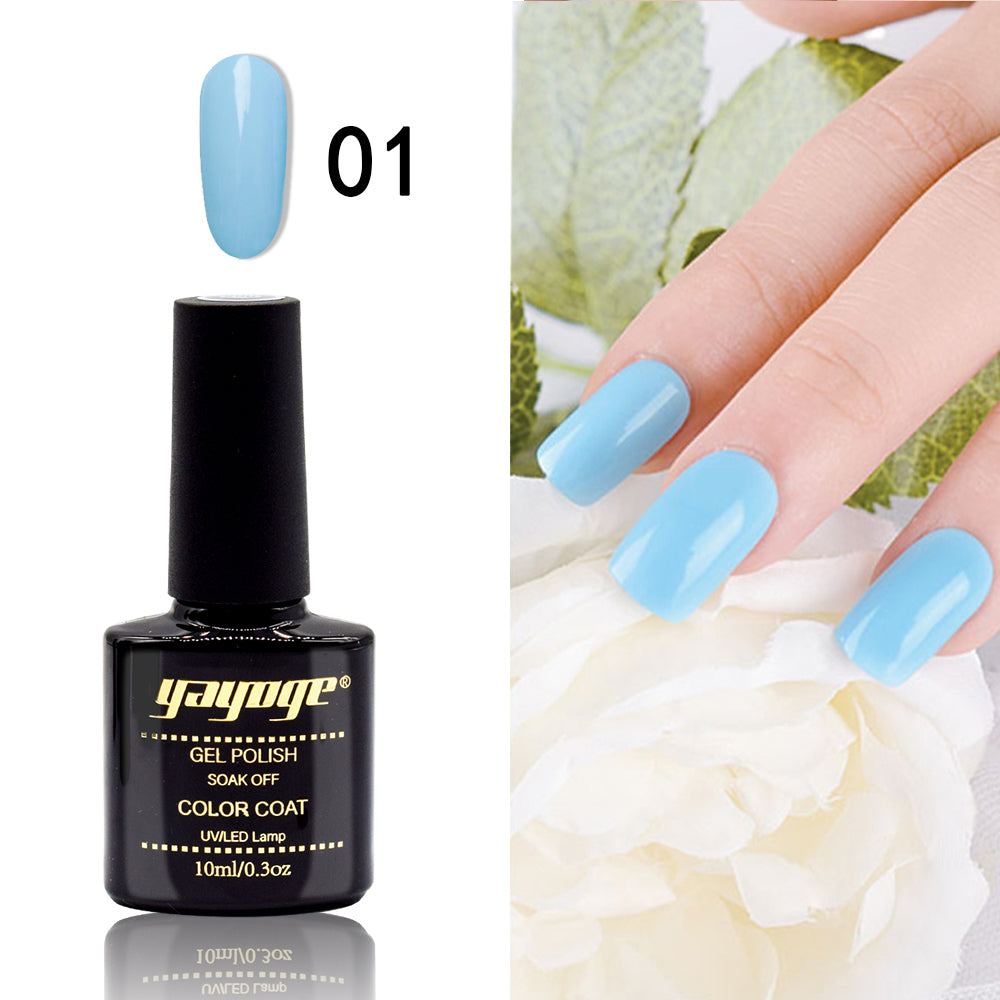 YAYOGE 6Colors Ocean Blue Series Gel Nail Polish UV LED Soak Off Gel Lacquer - YAYOGE Official
