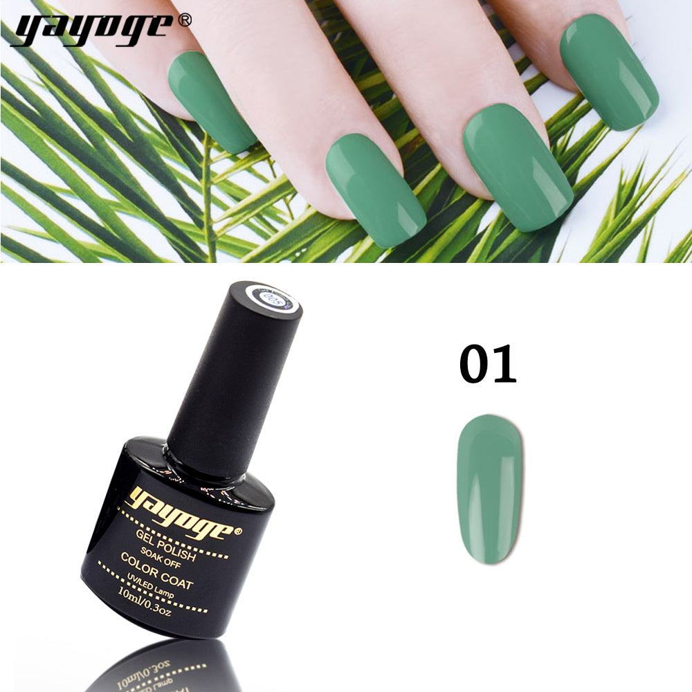 6 Colors Forest Green Series UV LED Gel Nail Polish Soak Off(10ml)