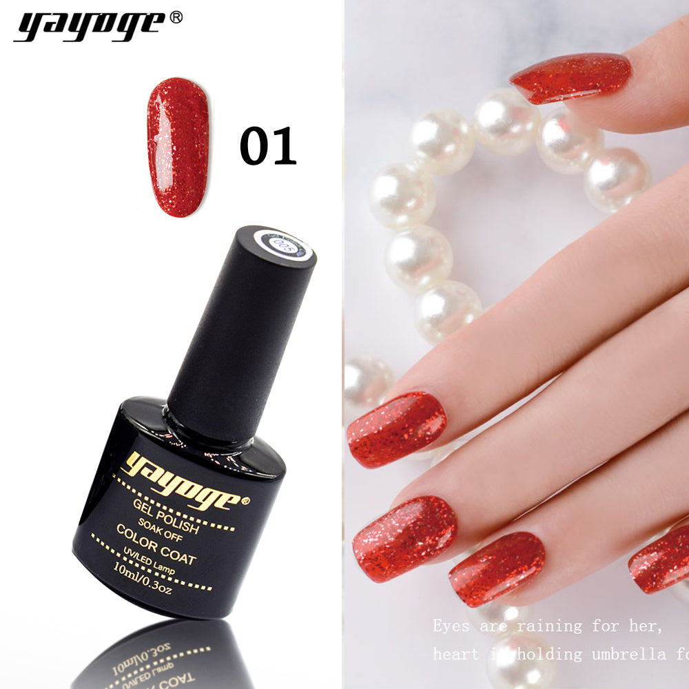 Red Diamond Series Soak Off UV LED Nail Gel Polish Long Lasting Lacquer A216(10ml)