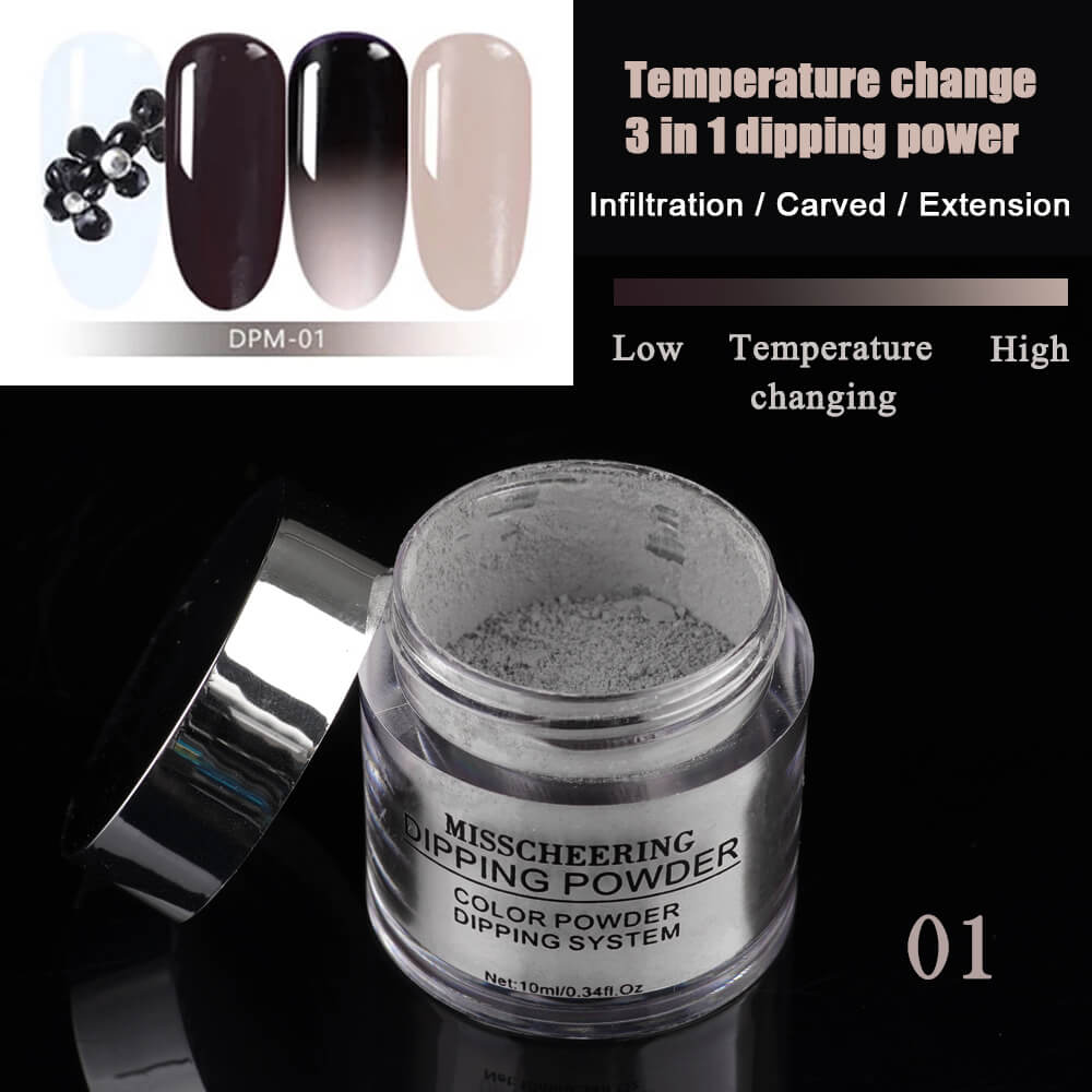 YAYOGE 3IN1 Chameleon Dipping Powder Temperature Change Color No Need Cure