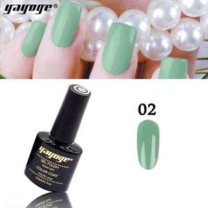 YAYOGE 6Colors Forest Green Series UV LED Gel Nail Polish Soak Off Varnish Gel Nail Art DIY - YAYOGE Official
