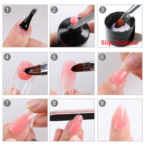 US WAREHOUSE YAYOGE 19Pcs/7Pcs Polygel Set UV LED Quick Extension Gel Nail Art Salon DIY - YAYOGE Official
