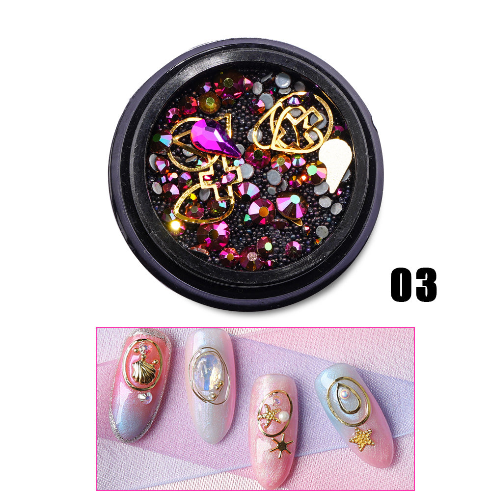 UK WAREHOUSE 12 Types Glitter Diamond Sequins HHZS