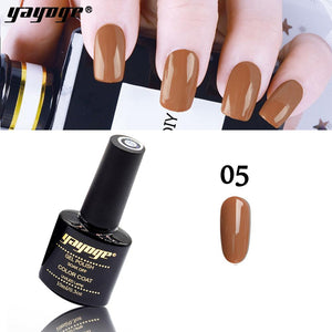 YAYOGE 6Colors Peruvian Brown Series Gel Nail Polish UV LED Soak Off Varnish Nail Art Gel - YAYOGE Official