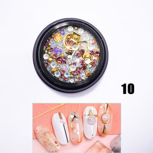 US WAREHOUSE YAYOGE 12Type Nail Glitter 3D Diamond Rhinestone Sequins - YAYOGE Official