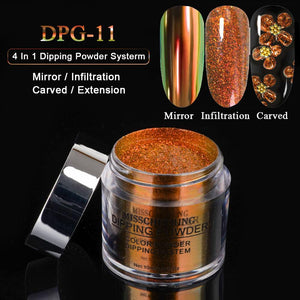 UK WAREHOUSE YAYOGE 4 in 1 Dipping Powder Natural Dry Mirror Glitter/Extension/Craved/Infiltration - YAYOGE Official