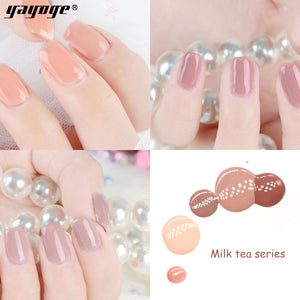 YAYOGE 6Colors Milk Tea Series UV LED Gel Nail Polish Soak Off Varnish Nail Art DIY Gel - YAYOGE Official
