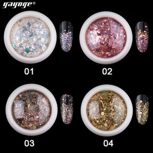 US WAREHOUSE YAYOGE 8Colors Selectable Sparkling Ash Glitter Nail Sequins For Nail Salon DIY Design - YAYOGE Official