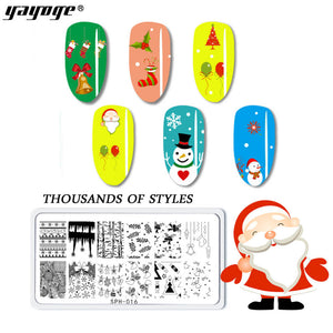 US WAREHOUSE YAYOGE Christmas Stamping Plate Santa Claus ELK Snowman Snowflake - SHP-014 - YAYOGE Official