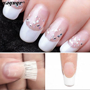 YAYOGE 10Pcs Builder Gel Fiberglass Silk Extension Fiberglass Form Nail Art Tool - YAYOGE Official