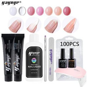 UK WAREHOUSE YAYOGE 15ml 9/14Pcs Polygel Set UV Gel Extension Nail Art Beginnner Kit - YAYOGE Official