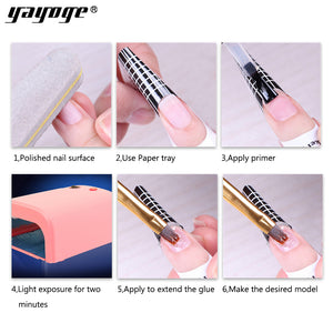 YAYOGE 14g Builder Gel Set UV LED Quick Builder Nail Tips Extension Kit - YAYOGE Official
