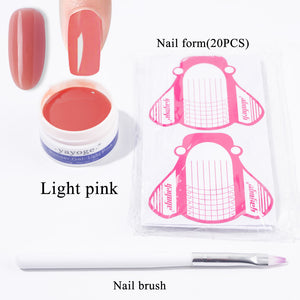 YAYOGE 3Pcs/Set 14g Builder Gel Set UV LED Gel Fast Extension Nail Art DIY - YAYOGE Official