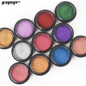 YAYOGE 11Colors Nail Mirror Powder Aurora Laser Chrome Glitter DIY Nail Art Powder - YAYOGE Official