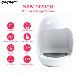 YAYOGE 3W Egg UV LED Nail Dryer USB Lamp For Gel Nail Polish Polygel Builder Gel - YAYOGE Official