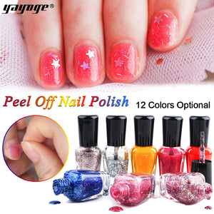 YAYOGE 8ml Peel Off Water Based Nail Polish Varnish Nail Enamel 12Colors - YAYOGE Official