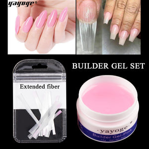 YAYOGE 14g UV Gel Builder Gel + Fiberglass Silk Nail Extension Kit - YAYOGE Official