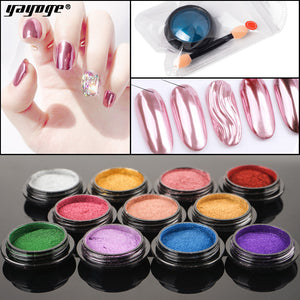YAYOGE 11Colors/Set Mirror Powder Chrome Nail Art Glitter UV Gel Nail Polish Decoration Pigment - YAYOGE Official