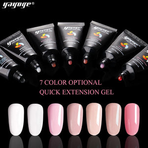 US WAREHOUSE YAYOGE 2Pcs/Set Polygel Set Fast Extension Set Nail Art DIY Kit - No Base & Top Coat & Slip Solution - YAYOGE Official