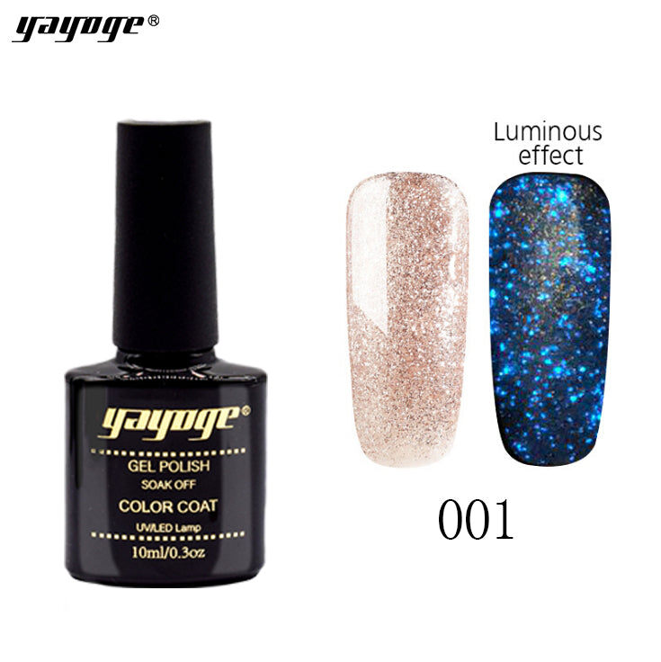 US WAREHOUSE YAYOGE 10ml Luminous Gel Polish Starry Glitter Gel Fluorescent Gel Enamel - YAYOGE Official